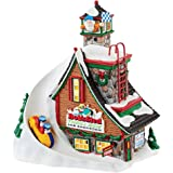"""Department 56 North Pole Series Village Bob's Sled Thrill Ride Light House, 7.88"""""""