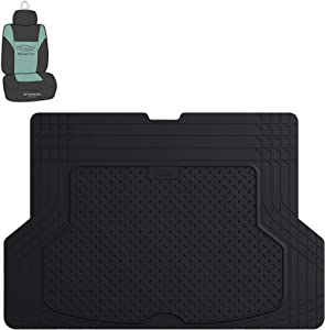 FH Group F16406 Premium Trimmable Rubber Cargo Mat (Black) with Gift- Universal Fit for Cars Trucks and SUVs