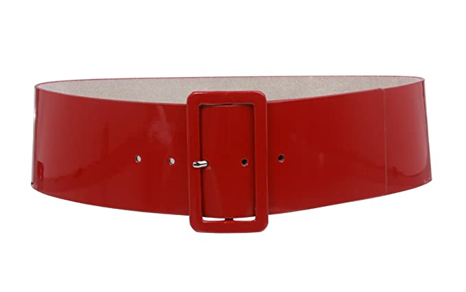 Vintage Wide Belts, Cinch Belts High Waist Patent Leather Wide Fashion Square Belt $29.44 AT vintagedancer.com