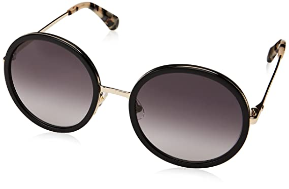 e8781aa5b061 Amazon.com: Kate Spade Women's Lamonica/s Round Sunglasses, BLACK ...