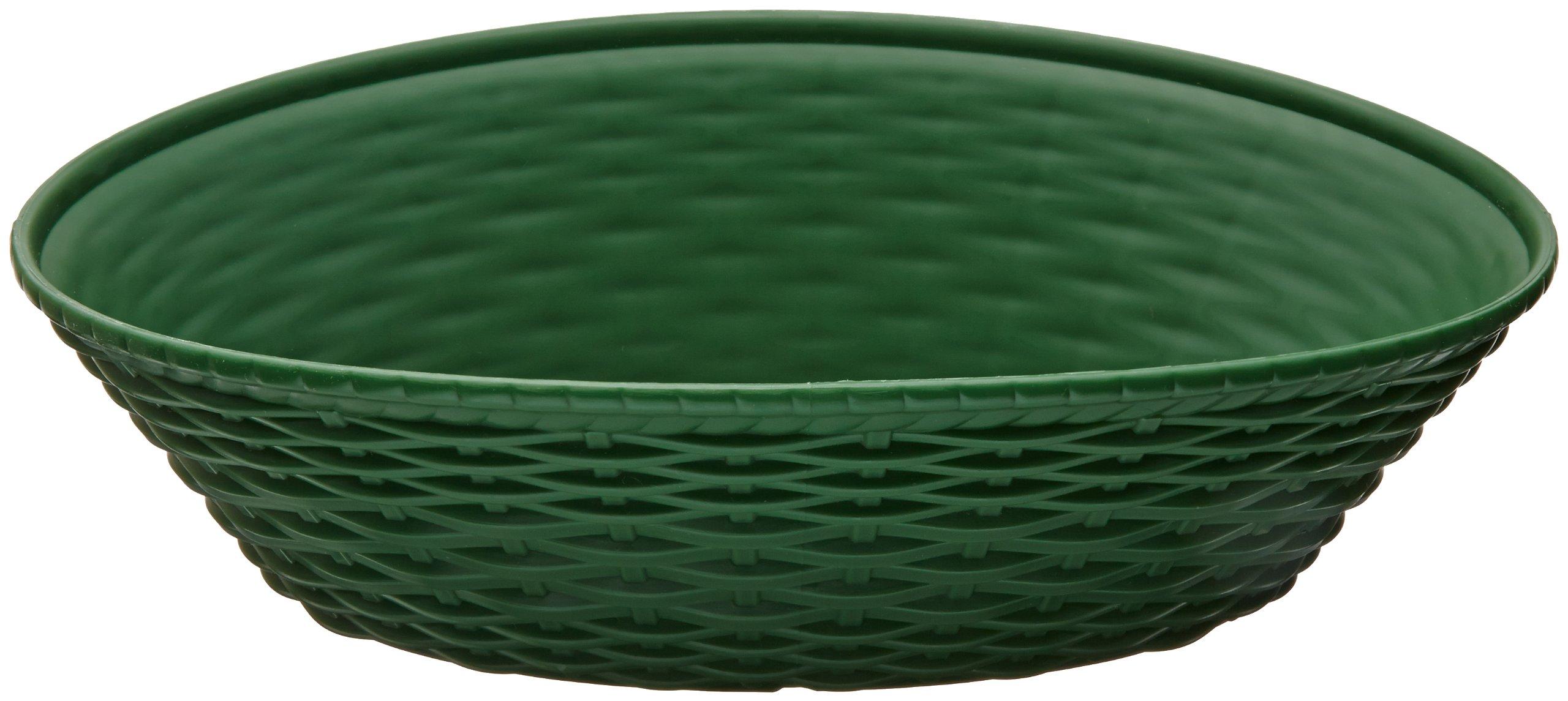 Carlisle 650409 WeaveWear Oval Serving Basket, 9'' x 6'', Green (Pack of 12)
