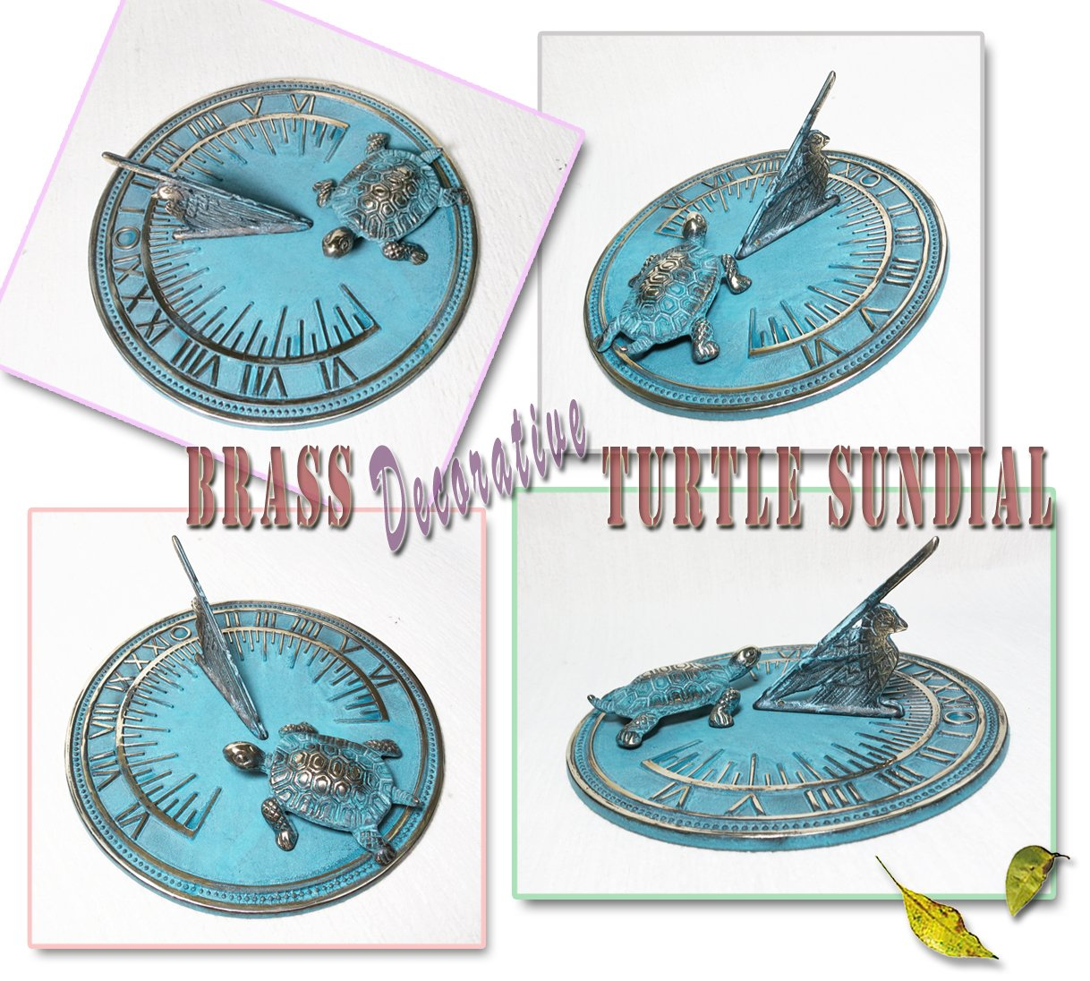 Brass Decorative Turtle Sundial 7'' Inches Wide by Taiwan (Image #9)