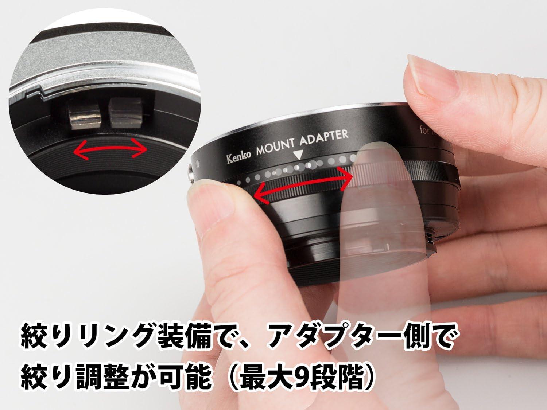 Kenko Optical ke01-mftnaf 58/mm Adapter Ring for Nikon F Lens to Micro 4//3/Black Shell