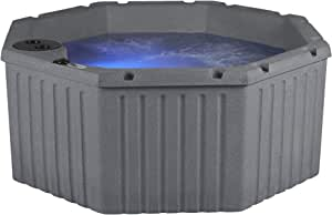 Essential Hot Tubs 11-Jets 2021 Integrity Hot Tub, Seats 4-5, Gray Granite