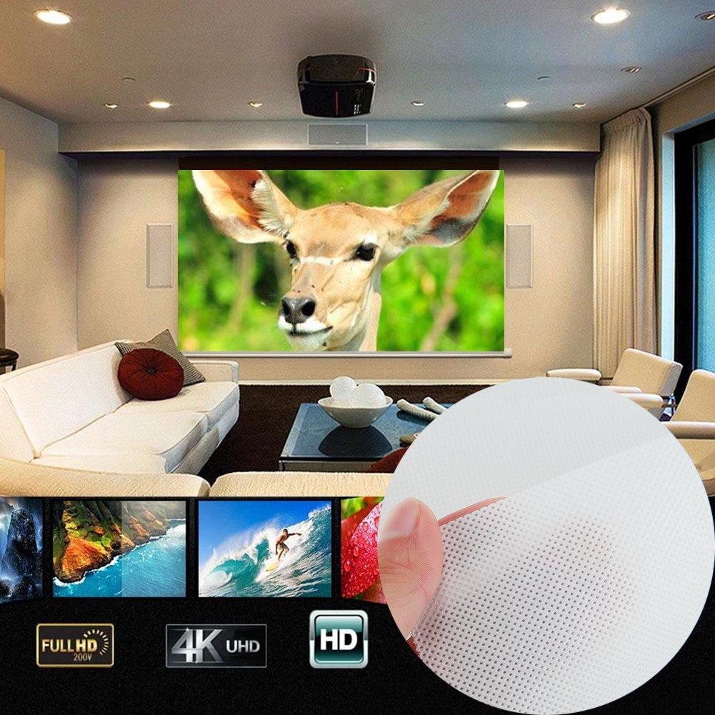 Anyutai Cortina plegable para proyector 16: 9 Pantalla HD 60 'Pantalla de proyecció n de fibra de lienzo Cortina de proyecció n Cine en casa Patios al aire libre para HDTV Deporte Pelí cula Gaming