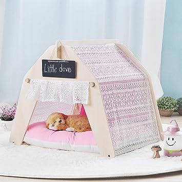 shanzhizui Tienda de mascotas Casa de perro Casa del gato Perros pequeños y medianos Nido de gato Extraíble y lavable, L: Amazon.es: Productos para mascotas
