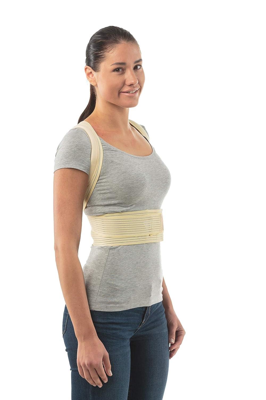 Corrector de postura para escoliosis, cifosis torácica y alivio del dolor de espalda - Corrector de columna vertebral faja soporte de espalda para mujeres y ...