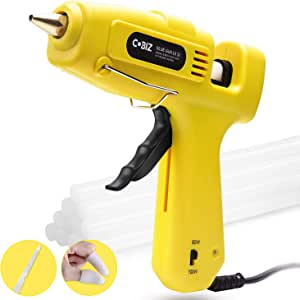 "Hot Glue Gun High Temp-Cobiz Full Size (Not Mini) 60/100W Dual Power Heavy Duty Melt Glue Gun Kit with 10 Pcs Premium Glue Sticks(0.43'' x 8"") for Arts & Crafts Use,Christmas Decoration/Gifts"