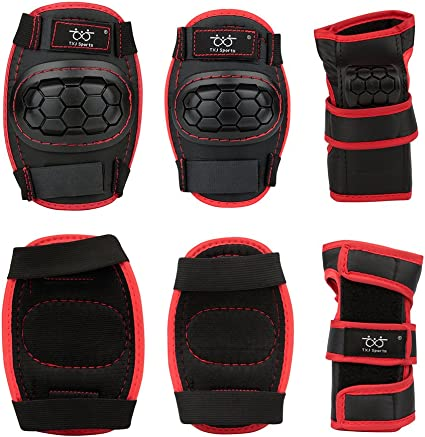 Skate Pads for Kids Youth Adult 3 in 1 Protective Gear Set for Skateboarding Skating Cycling Biking Bicycle Scooter Gonex Skateboard Elbow Pads Knee Pads with Wrist Guards