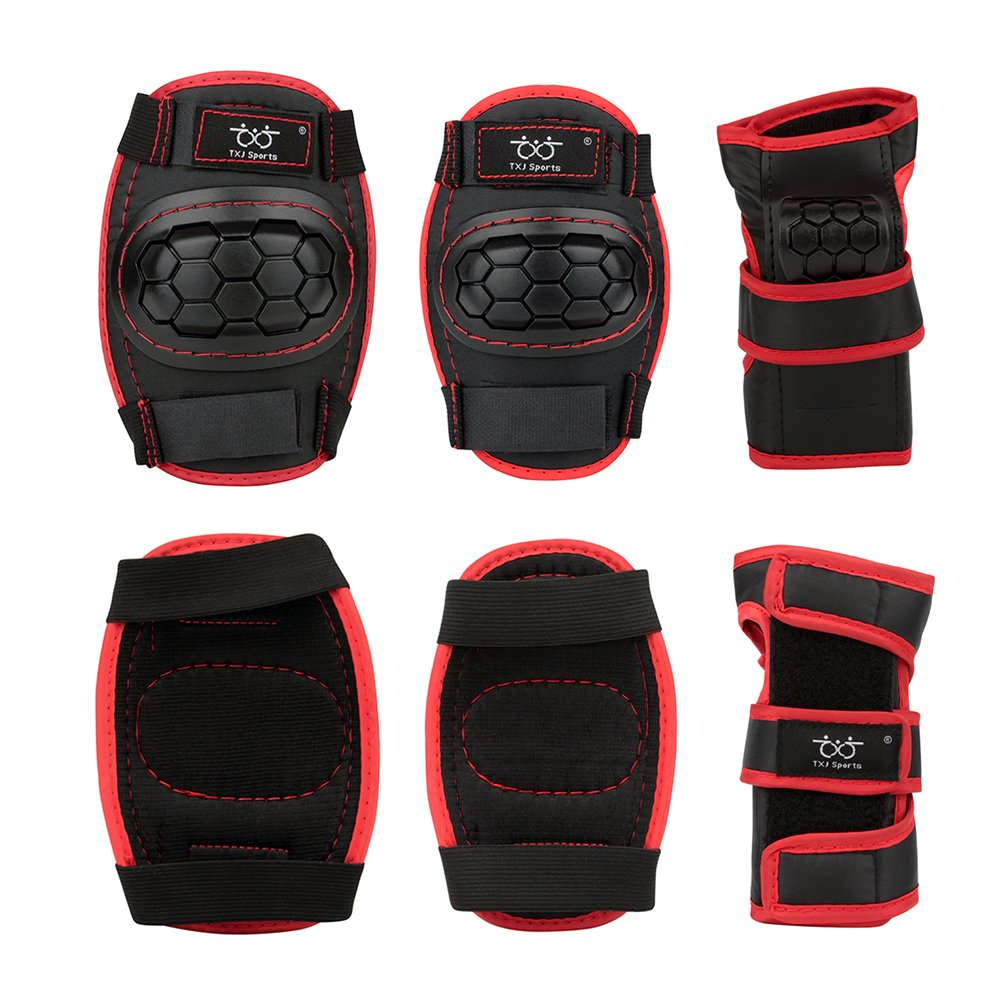 Kids Children Knee Pads/Elbow Pads with Wrist Guards Protective Gear Set for Multi Sports Skateboarding,Scooter,Skateboard,inline skatings,Cycling Protective Gear,Riding,Football,Volleyball,BMX