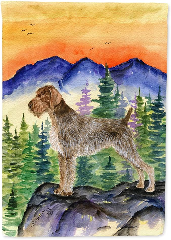 Caroline's Treasures SS8226GF German Wirehaired Pointer Flag Garden Size, Small, Multicolor
