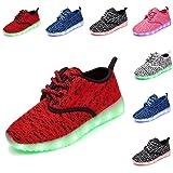 DEDU Kids Breathable 48 Colors LED Sneakers Sport