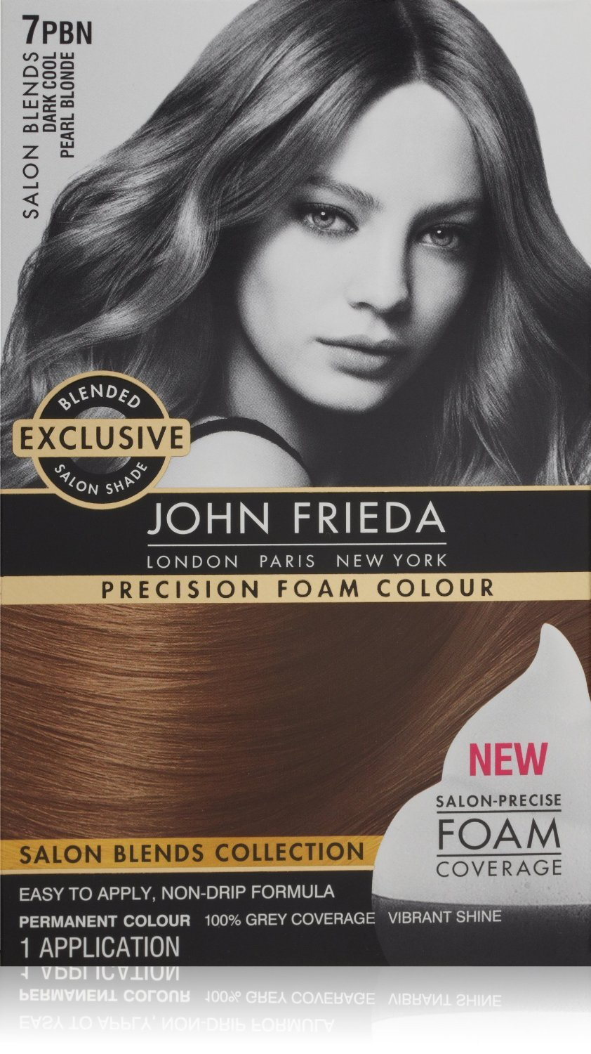 John Frieda Precision Foam Colour, Dark Cool Pearl Blonde (2 Pack)
