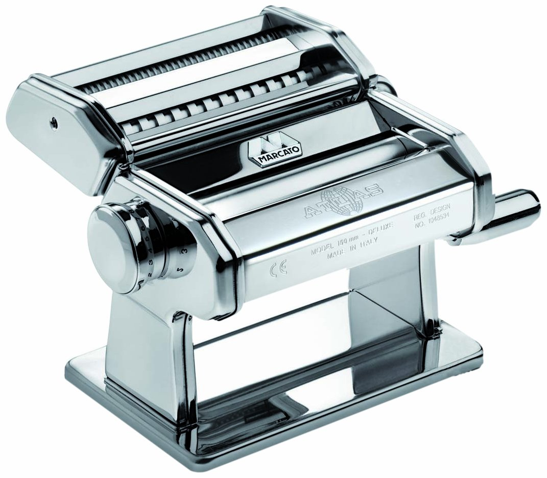 Marcato 073201 Atlas 150 Manual Pasta Machine, 8-1/4 by 6-Inch by Marcato