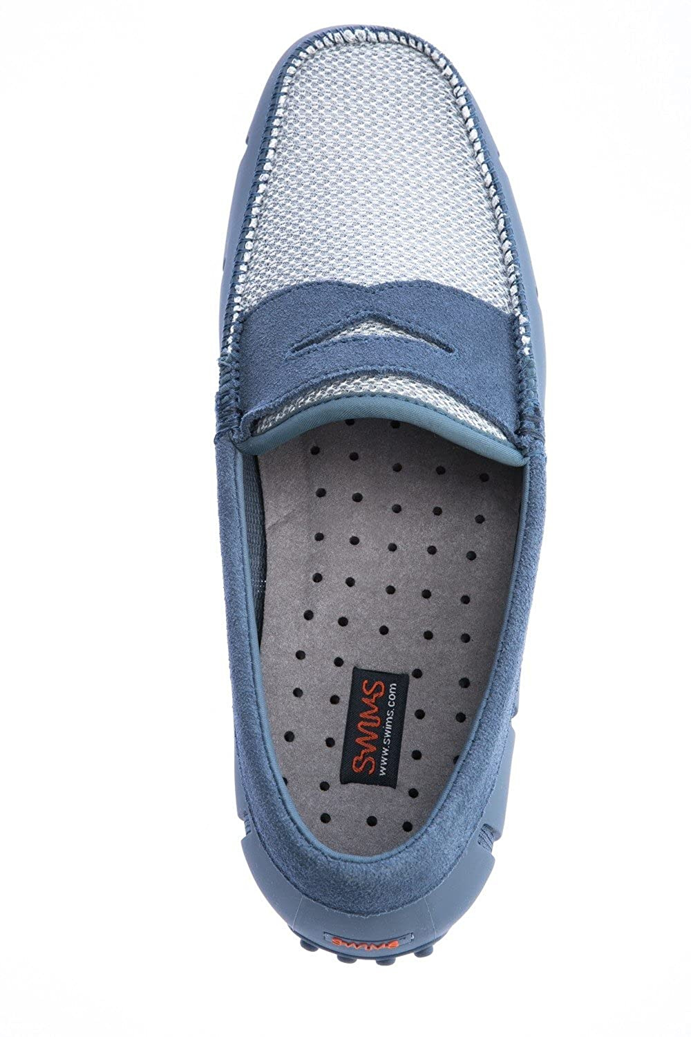 21b42a84ac6 Swims Men s Lux Penny Loafers Blue   Grey  Amazon.co.uk  Shoes   Bags