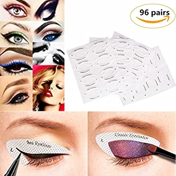 Yovvin Pairs Eyeliner Stencil Stickers Smokey Shaper Eyeshadow - Eyeshadow template