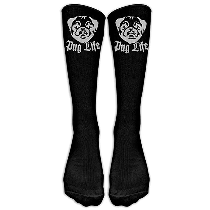 e885116e7a2 Image Unavailable. Image not available for. Color  Socks Platinum Pug Life  Casual Unisex Sock Knee Long High Socks Sport ...