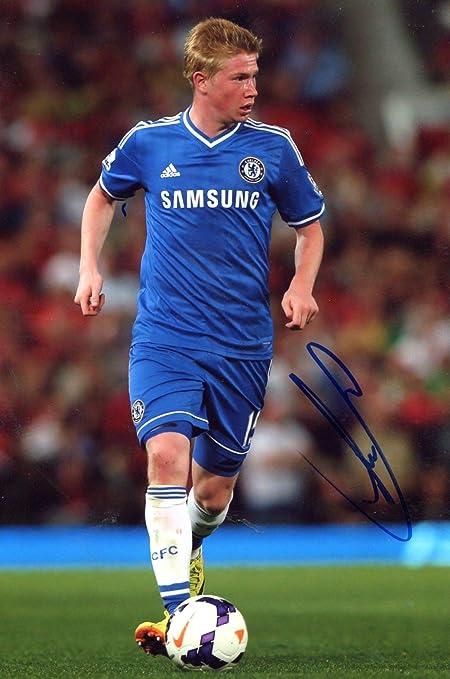 online store ac49b c9ee9 Amazon.com: SOCCER Kevin De Bruyne FC CHELSEA autograph, In ...