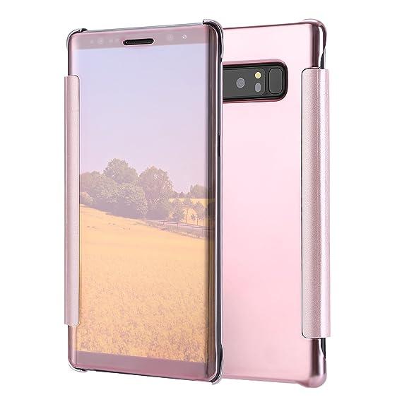 Amazon com: TKOOFN Galaxy Note 8 Case, Mirror View Smart
