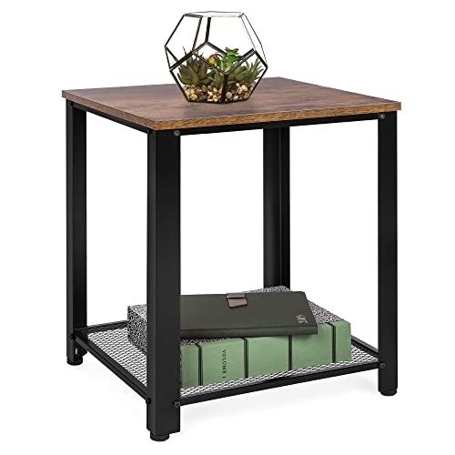 Best Choice Products Rustic 2-Tier Side End Table