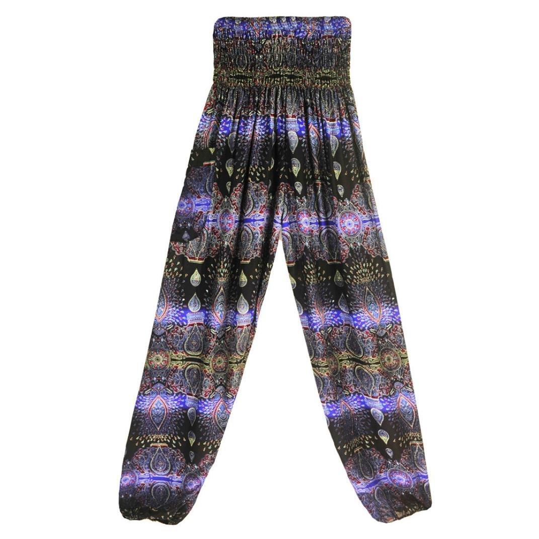 f6b8dad75500 Brezeh Women Yoga Pants Unisex Loose Pants Trousers Summer Boho High Waist  Casual Yoga Pants Leggings Baggy Drawstring Wide Leg Pants Jumpsuit Harem  Pants ...