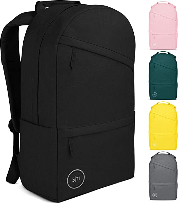 Simple Modern Legacy Backpack with Laptop Compartment Sleeve - 20L Travel Bag for Men & Women College Work School -Midnight Black