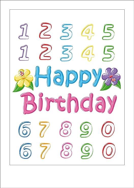 Diseño AG H 1004 Pared Pegatinas Autkleber Feliz cumpleaños ...