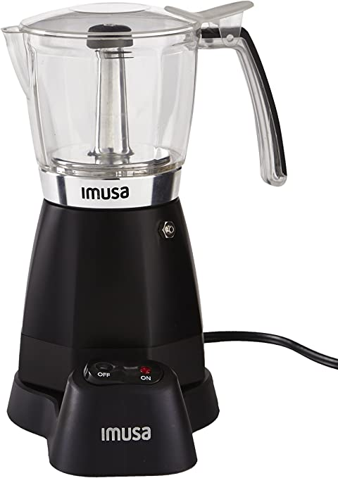 IMUSA USA B120-60006 Electric Coffee/Moka Maker 3-6-Cup, Black