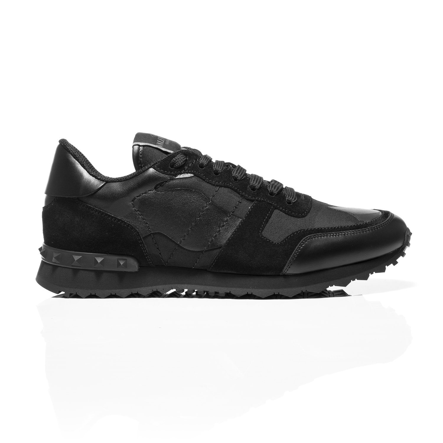 07643484ccc0 Valentino Black Rockrunner Camouflage-Print Canvas, Leather   Suede  Sneakers (6.5 UK)  Amazon.co.uk  Shoes   Bags
