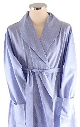 a0393c2d4c Bown of London Womens Soho Spot Dressing Gown - Light Blue  Amazon ...