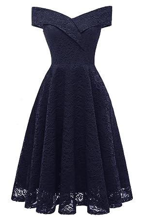 Victoria Bridal Womens A-Line Dress Black Black - Blue - S