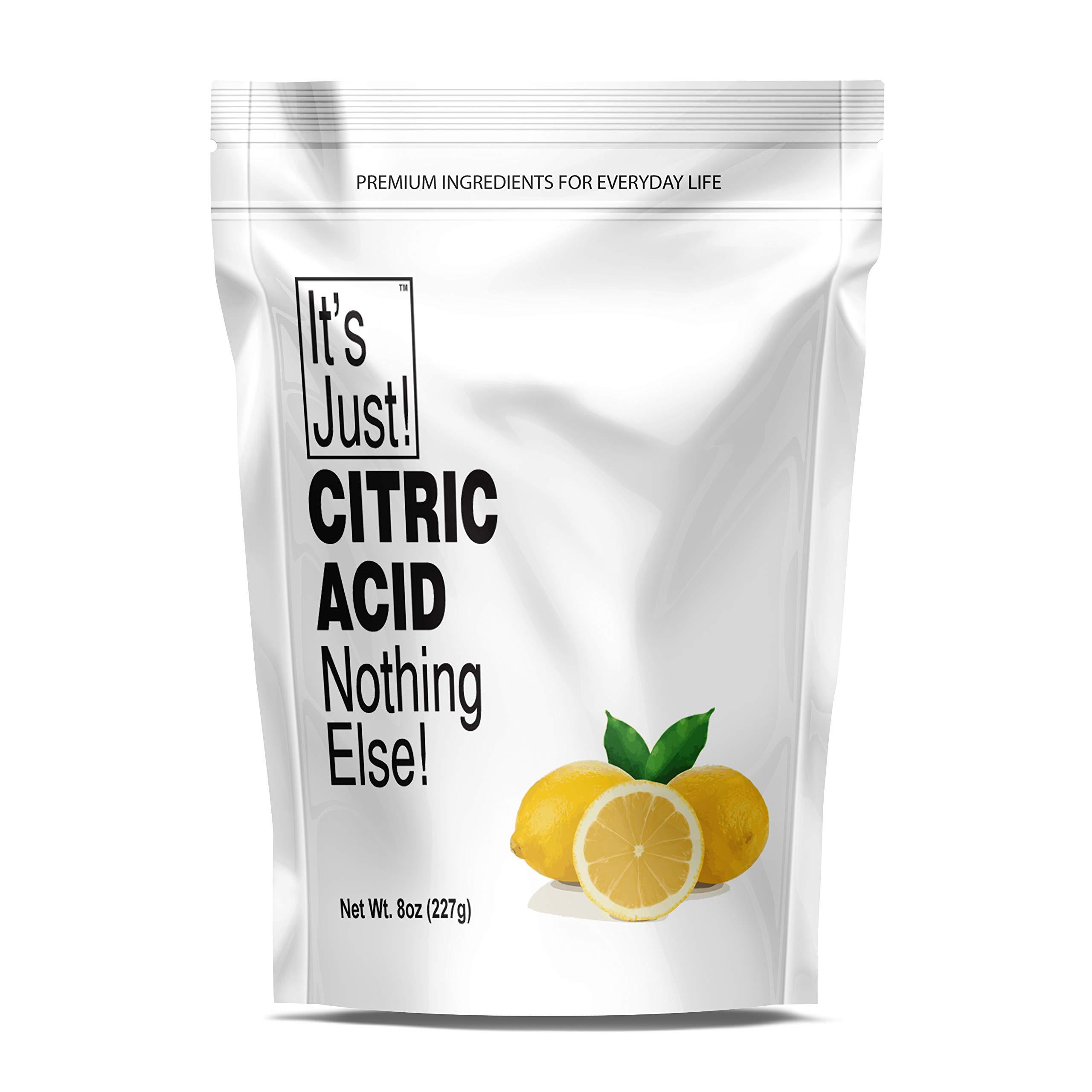 It's Just - Citric Acid, Food Grade, Non-GMO, Bath Bombs (8 Ounces)
