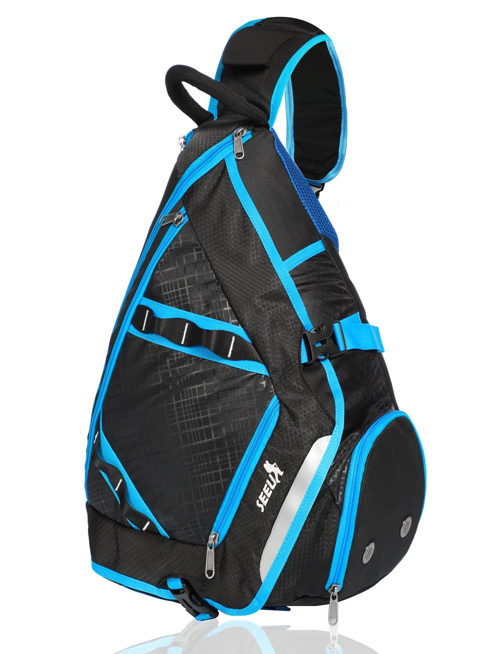 SEEU 32L Oversized Sling Backpack, Crossbody Chest Gym Backpack Outdoor Hiking Travel Bag for Men Women Kids