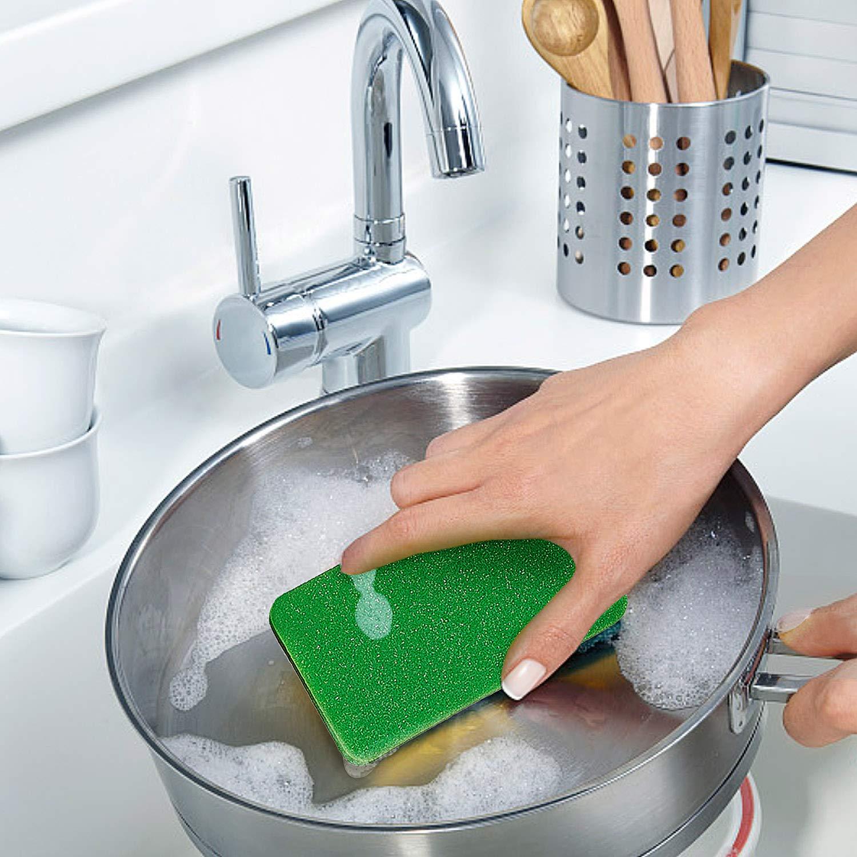 esafio Reinigungsschwamm K/üche 22 St/ück Zweiseitig Putzschwamm Fleckenentferner-Pad F/ür Hartn/äckigen Schmutz Hygienisch Saugstark Rechteckig