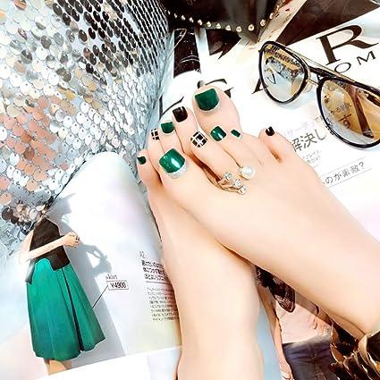 Mimei 24 piezas Uña Postizas Verdes Para Mujeres o Niñas para Navidad