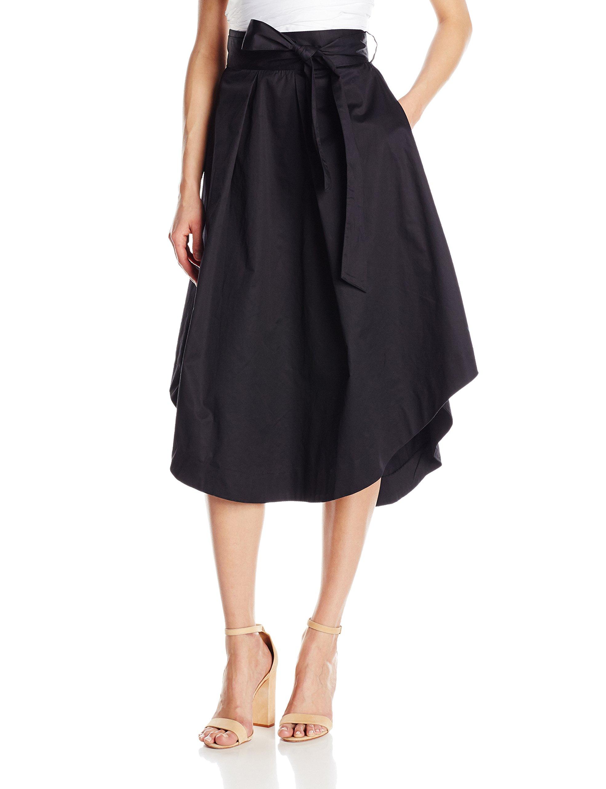 KENDALL + KYLIE Women's a-Line Swing Skirt, Black, L