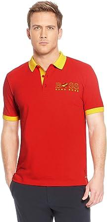 BOSS Hugo Hombre Camiseta Polo Paddy de la Bandera España ...