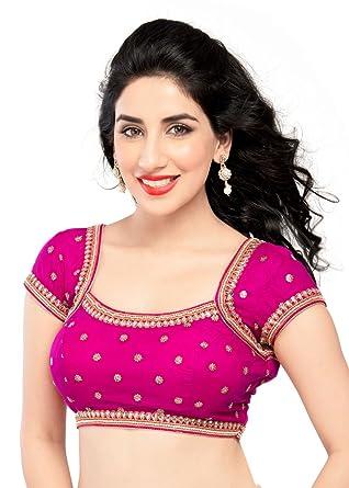 39bc1bcf66 Amazon.com: Exquisite Pink Moti-Kundan Sari Choli Indian Saree Blouse -  KP-85: Clothing