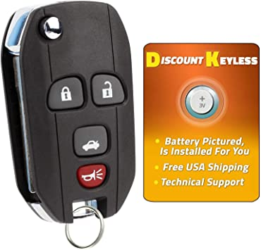 Discount Keyless Replacement Key Fob Car Remote Compatible with OUC60270 15912859