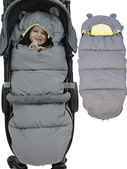 Universal Footmuff for Pushchair,Pram,Stroller,Baby Sleeping Bag Soft Warm Oxford Extra Thick Waterproof Cosytoes Footmuff Winter Footmuff for Babies Infants Toddlers