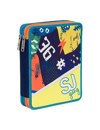 0888c8e707 ASTUCCIO scuola SEVEN MAXI - SJ BOY - 2 scomparti - pennarelli matite gomma  ecc.. Giallo Blue: Amazon.it: Valigeria