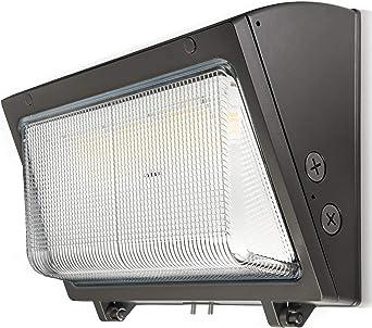 BeMAX Luz LED de pared, 5000 K luz diurna IP65 impermeable comercial e industrial exterior iluminación de seguridad para calle y área de iluminación, almacén, uso industrial: Amazon.es: Iluminación
