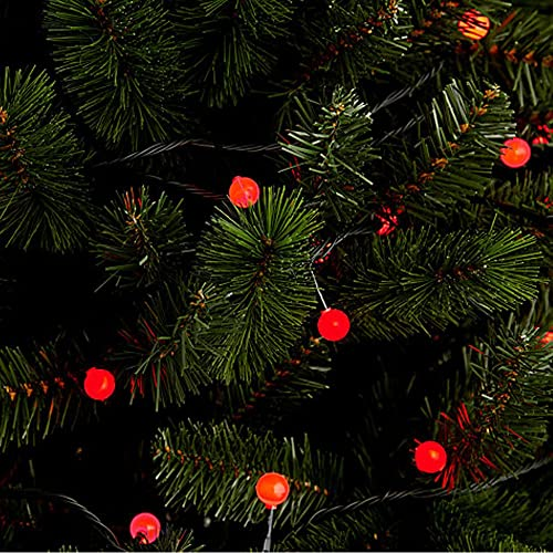 jndee battery powered waterproof holly berry ball fairy lights 3m 20 led red colour with