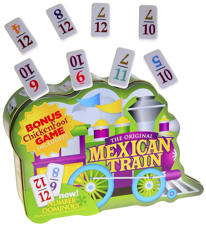 クラシック Dominoes Color-Coded Mexican Train, Double 12 Set, with Color-Coded NUMBERED Double NUMBERED Dominoes B007HTFO6C, スマイル仏壇:40a43514 --- arianechie.dominiotemporario.com