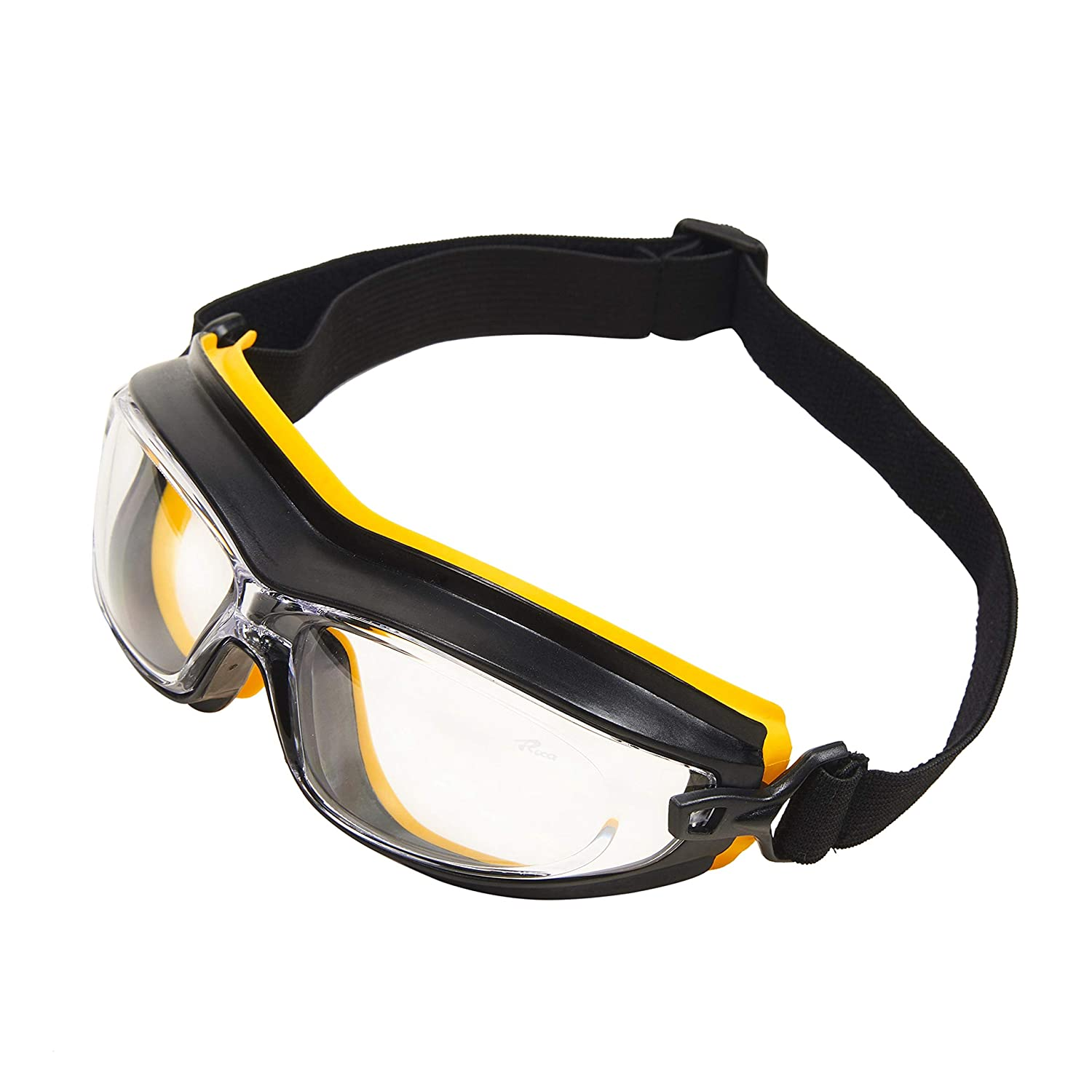 Babimax Industrial Safety Work Goggles Sports Eye Protection Glasses with Clear Anti Fog Scratch Resistant Wrap-Around Lenses and No-Slip Grips XDC-002