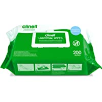Clinell Universal Cleaning and Surface Disinfection Wipes - 200 Wipes