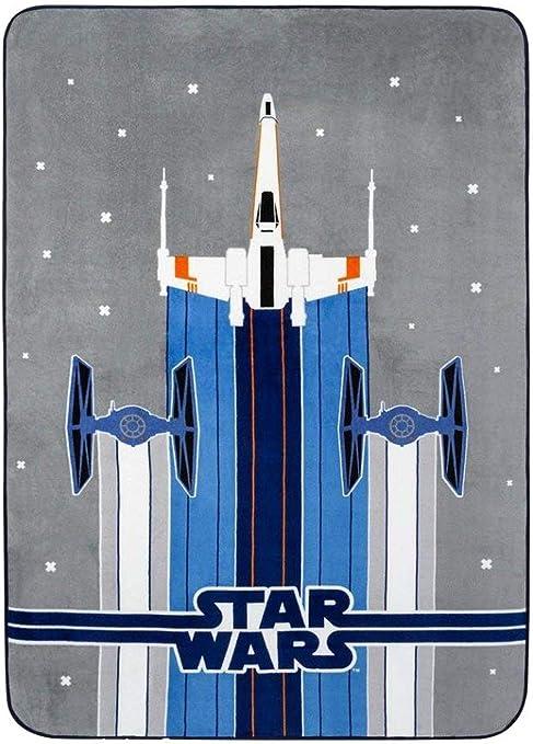 Jay Franco /& Sons Star Wars Plush Throw Millennium Falcon Spaceship Blanket