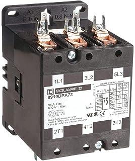 3 75 Full Load Amps-Inductive Square D 120VAC Open Definite Purpose Contactor