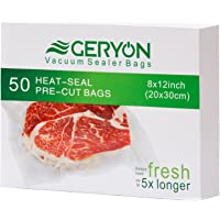 "Vacuum Sealer Bags Size 8""x11.5"", 4 Mil Embossed Commercial Grade Sous Vide Bags for Food Storage Saver"