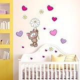 Decalmile rosa fata adesivi murali removibile vinile for Camera da letto principale con annesso asilo nido